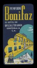 Collectible Hotel label luggage labels baggage Guatamala RARE #4